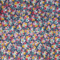 Liberty Jersey Fabric in Navy Red and Pink