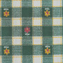 Cotton Green White Daisy Check Print