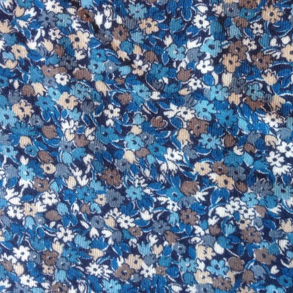 Cancer Hat Fabric Liberty Jersey Mini Blue Floral