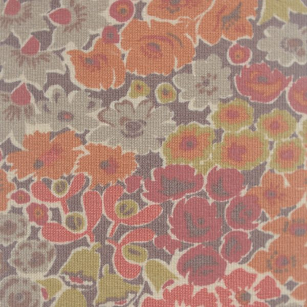 Liberty Jersey Teracotta Floral Fabric
