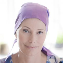 Tilly headscarf for chemo patients in silk dupion