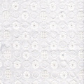 White Embroidered Cotton Fabric for Cancer Headscarf