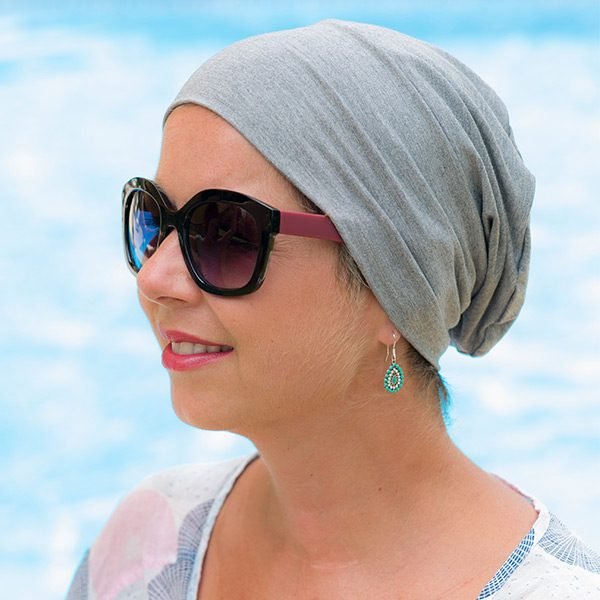 Soft Grey Hat for Cancer Patients