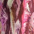 Silk fabric in Purple Mountain pattern for cancer hat