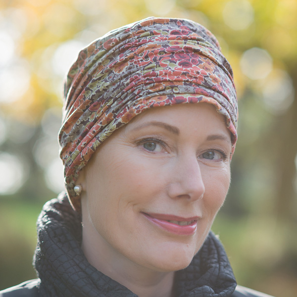 Olive - Gorgeous Liberty chemo hat for cancer or alopecia patients 7caa6027607