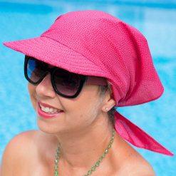 Hot Pink Sun Cap and Scarf for Cancer Patients