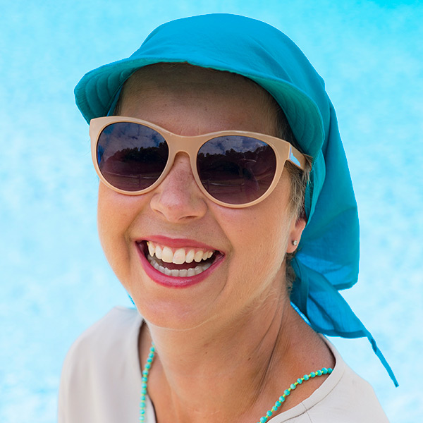 Petrol Blue Teal Fabric for Cancer Sun Hat
