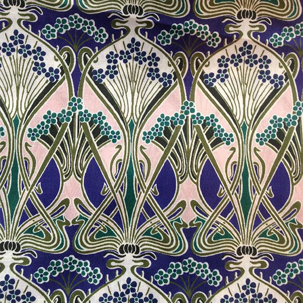 Liberty Tana Lawn Fabric Ianthe Blues Pinks for Cancer Scarf