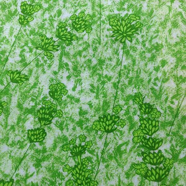 Liberty Tana Lawn Lime Green Fabric for Cancer Scarf