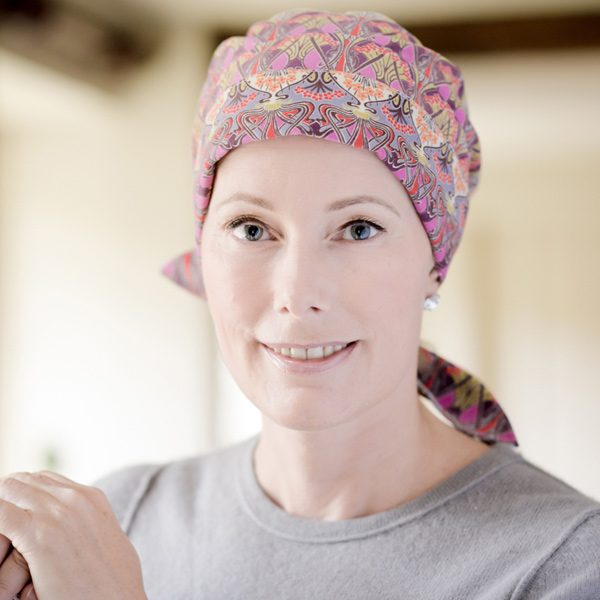 Alice headscarf for chemo patients in Liberty Cord