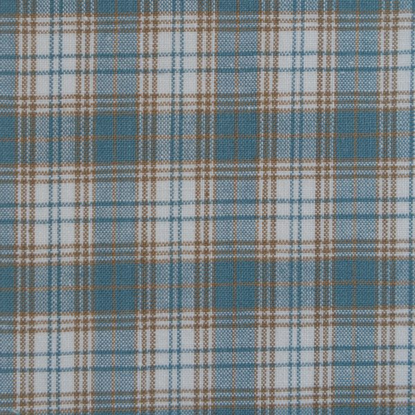 Cotton Sage Coffee White Check