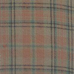 Cotton Orange Sage Beige Striped Fabric