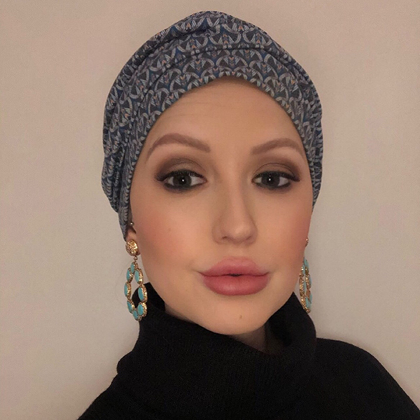Cancer Turban Hat Rose