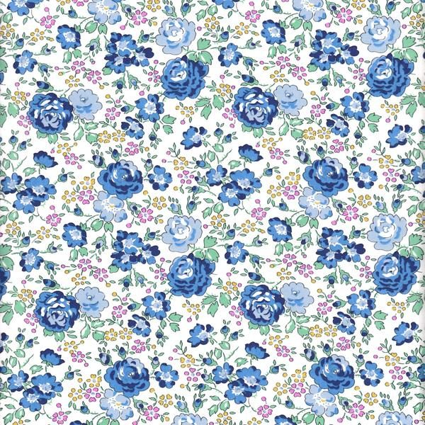 Blue Cotton Floral Liberty Print