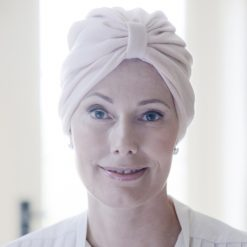 Turban hat for chemo patients in cashmere