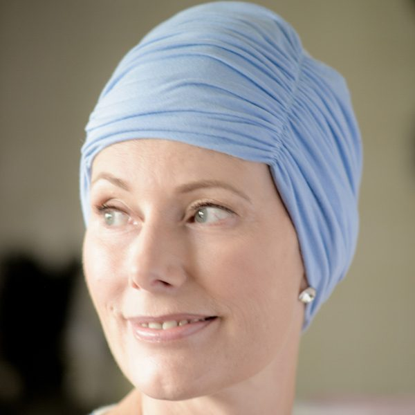 Olive Hat for Chemo Patients in Bamboo Fabric