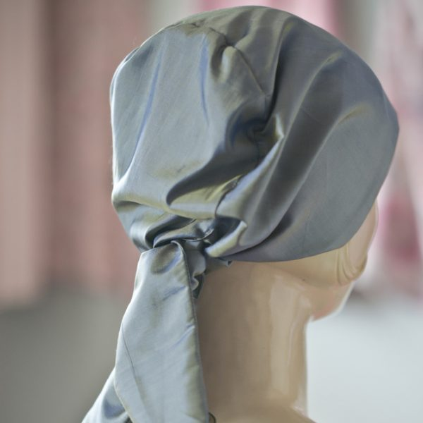 Tilly chemo headscarf from behind