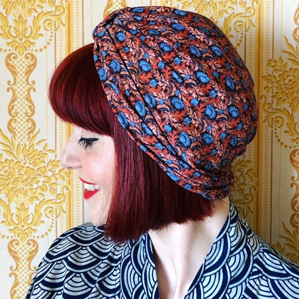 Turban Plume Poppy Cancer Hat
