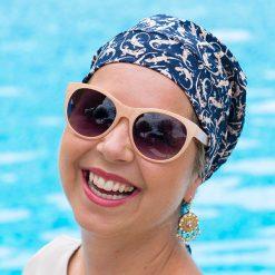 Alopecia Scarf Navy Cotton