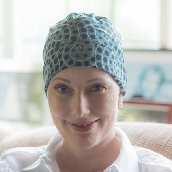 luxury chemo headscarf in silk