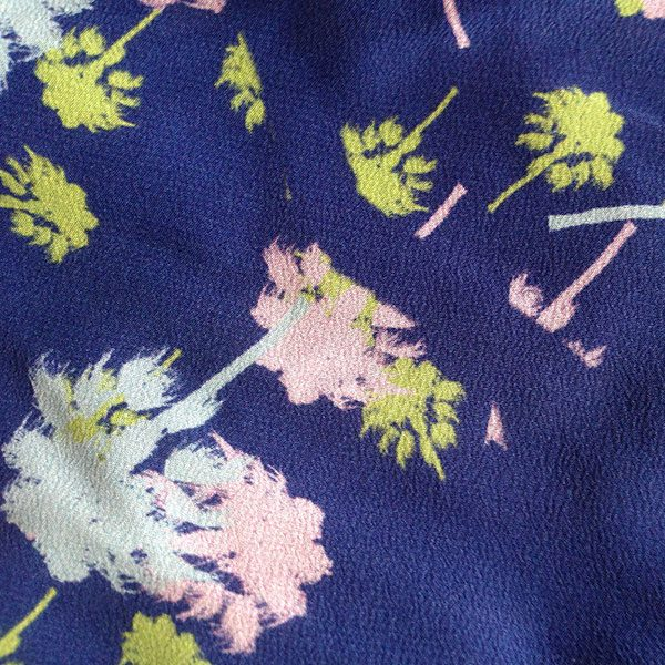 Silk Fabric for Cancer Hat Navy