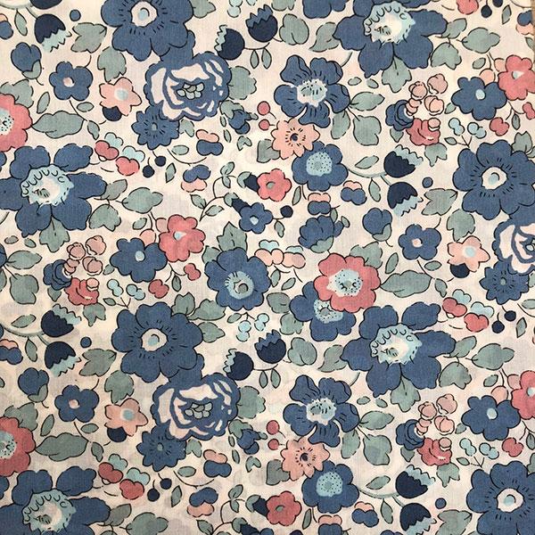 Liberty Tana Lawn Betsy Blue Peach Mint Fabric