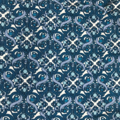 Liberty Jersey Blue White Swirl Fabric