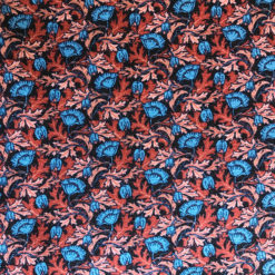 Plume Poppy Liberty Jersey Fabric for Cancer Hat