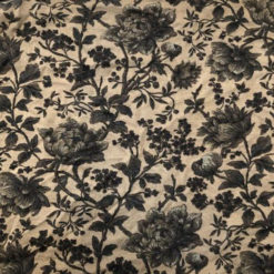 Liberty Jersey Floral Brown Fabric for Cancer Hat