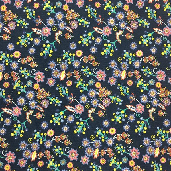 Buds and berries cord fabric for cancer hat