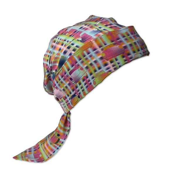 Car Lines Silk Fabric for Chemo Headscarf