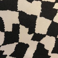 Cream Black Herringbone Fabric for Alice Silk Scarf
