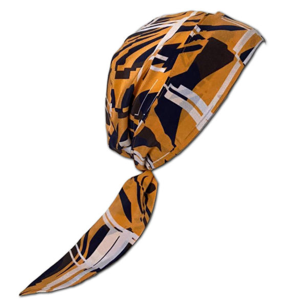 Tiger Lines Silk Fabric for Chemo Headscarf