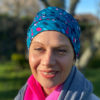 Ovacombe Teal Pink Spot Beanie for Cancer Patients