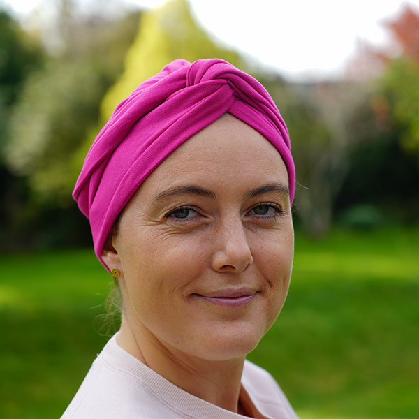 Amber Turban in Fuchsia Fabric