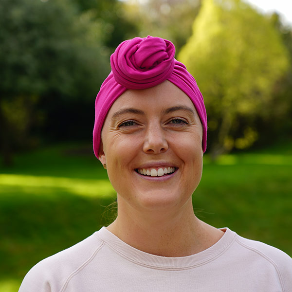 Amber Turban in Soft Fuchsia Fabric