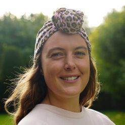 Amber Turban in Pink Leopardprint