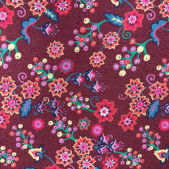 Liberty Jersey Brown Buds and Berries Fabric