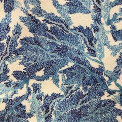 Liberty Jersey White Blue Marine Fabric