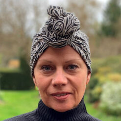 Cancer Hair Care Ecru Black Charity Collaboration Turban