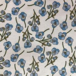 Ros Blue Liberty Tana Lawn Fabric